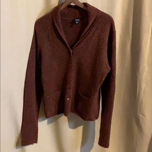 Eileen Fisher rusty burgundy mohair blend